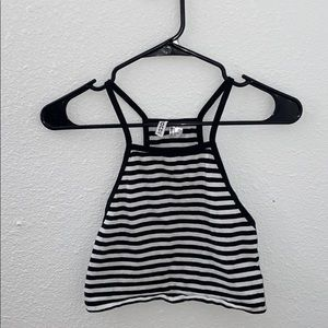 H&M Divided Black and white striped tank top